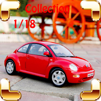 New Year Gift Beetle 1/18 Metal Model Sedan Car Mini Collection Vehicle Classic Model Scale Alloy Toys House Decoration Present