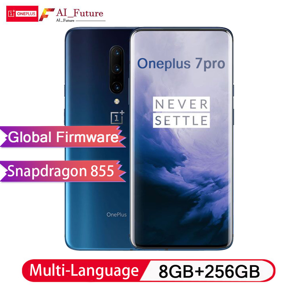 Global ROM Original Oneplus 7 PRO 8 GB 256 GB Smartphone Snapdragon 855 Display AMOLED NFC 6.67 Polegada Fluido Impressão Digital UFS 3.0