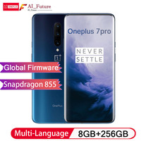 Global ROM Original Oneplus 7 PRO 8GB 256GB Smartphone Snapdragon 855 NFC 6.67 Inch Fluid AMOLED Display Fingerprint UFS 3.0