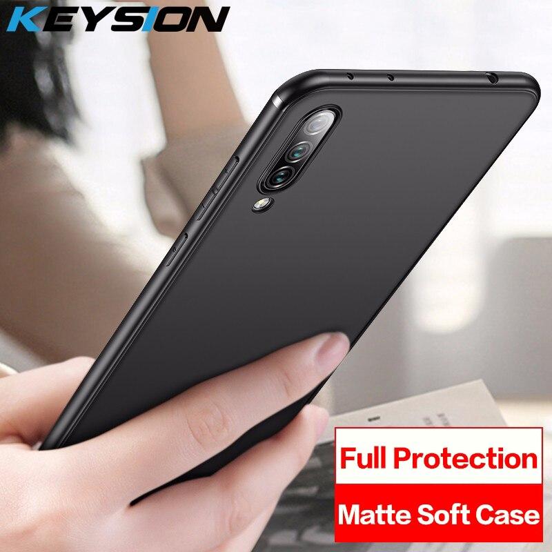 KEYSION Matte Phone Case For Xiaomi Mi CC9 CC9E 9 SE Protection Soft TPU Silicone Back Cover A3 Lite