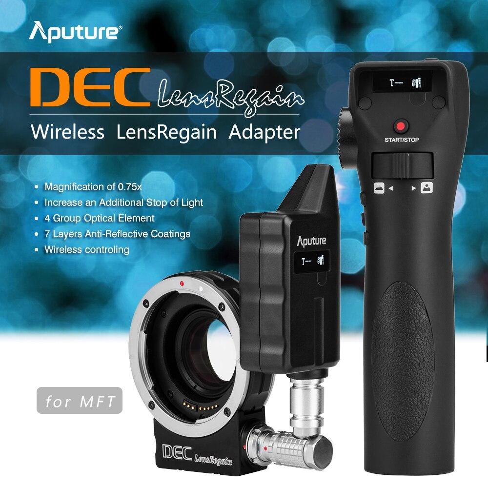 Aputure DEC LensRegain Wireless Follow Focus Focal Reducer Lens Adapter for Canon EF Lens to MFT Micro Four Third Mount Camera aputure dec vari nd nd8 to nd2048 using ef mount lenses to e mount cameras