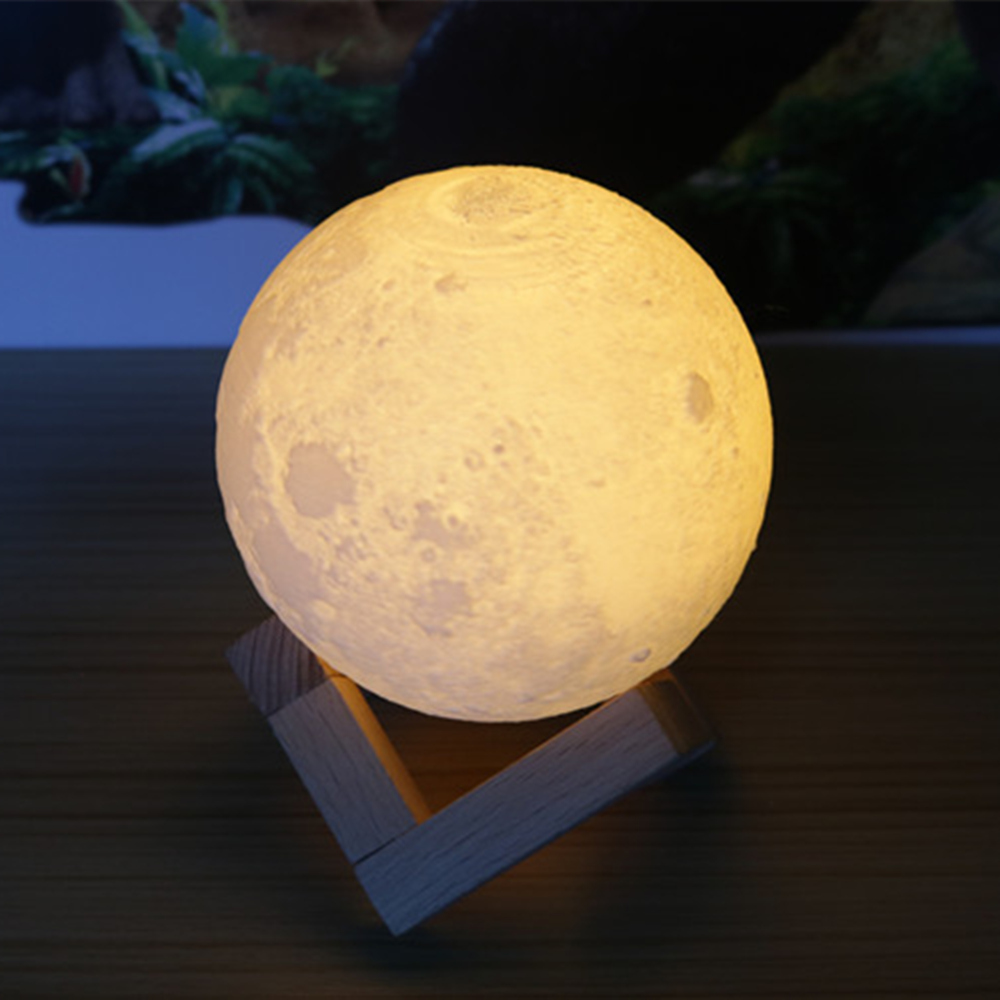 Online Shop AUCD 18/20CM 3D Magical Moon LED Night Light Moonlight Desk  Table Lamp USB Rechargeable For Home Decoration Christmas Gift 268 |  Aliexpress ...