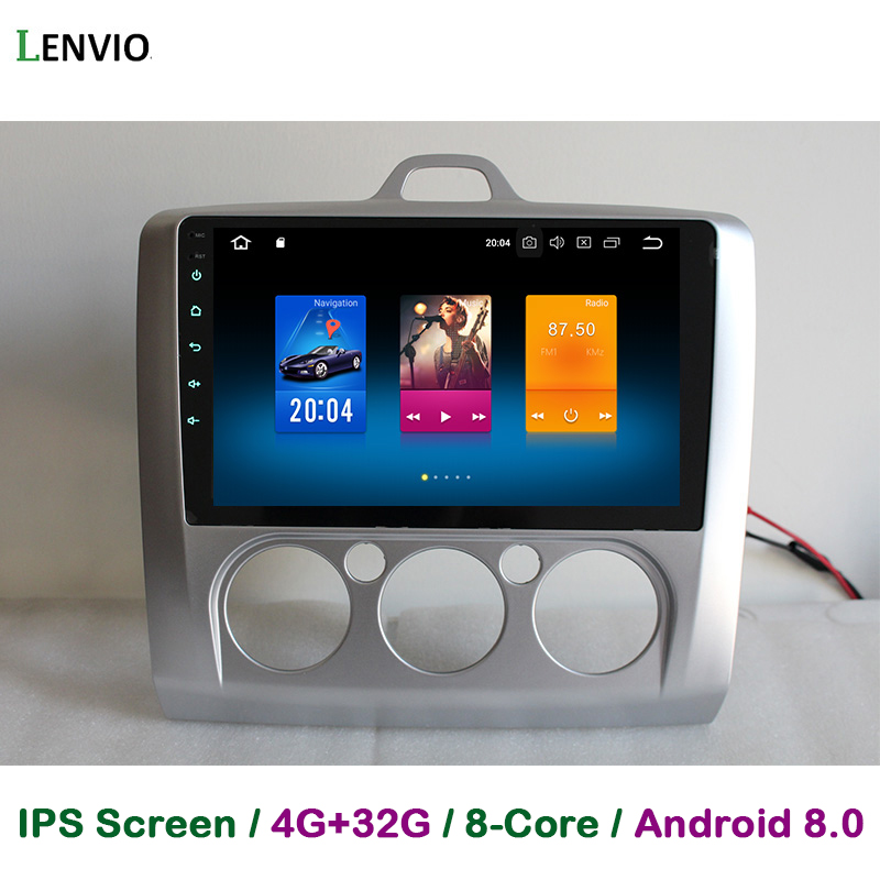 Lenvio 4GB+32GB Octa Core Android 8.0 CAR DVD Player For Ford Focus 2 2007 2008 2009 2010 2011 Car Radio GPS Navigation WIFI IPS