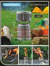WOS patented products Portable stainless steel lightweight camping stove for back packing