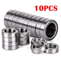 10pcs/Lot Miniature 6700ZZ Bearings Steel Metal Shielded Ball Bearing Thin Wall Roller 10x15x4 mm For RC Cars Trucks Mayitr