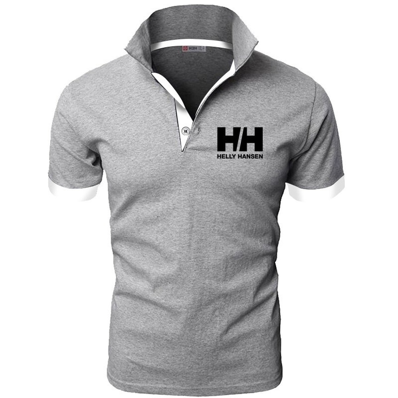 New Fashion HH Helly Hansen Printed Men H   Polo   Shirt Lapel Collar Slim Fit Tops Casual Classic brand Male   Polos   Shirts S-5XL