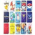 Pokemons ouro bonito cat phone case para iphone 4s 5s se 6 6 s 4.7 mais 5.5 case transparente tampa do telefone slot para cartão estande filp case