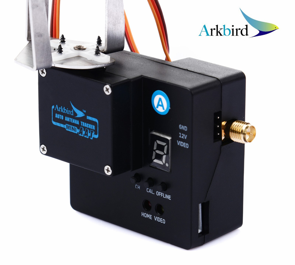 US $122 56 |Arkbird FPV 5 8GHz Mini Auto Antenna Tracker Gimbal Long Range  System W/ Air Module and Ground System Integrated Video Receiver-in Parts &