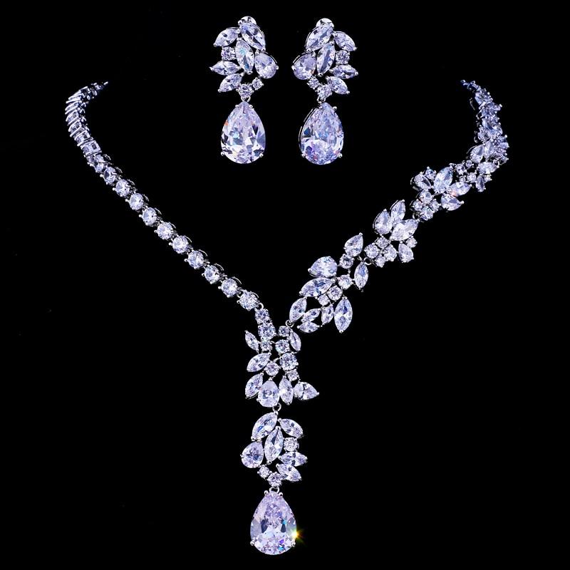 Emmaya New Unique Design Choker Necklace Stud Earrings Bridal Jewelry Sets Wedding Accessories Dropship 1