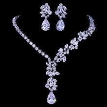 Emmaya nowy unikalny projekt Choker naszyjnik stadniny kolczyki zestawy biżuterii ślubnej akcesoria ślubne Dropship