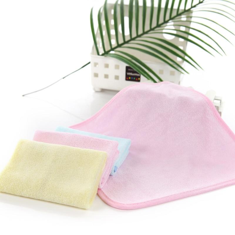 2 Stücke Neue Einfache Stil Plain Farbe Bambus Faser Haut-freundliche Kinder Kinder Taschentücher Gesicht Hand Waschen Handtuch Fs0657