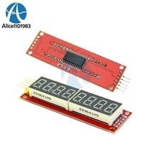 MAX7219 8 wyświetlacz cyfrowy LED 7 segmentowy cyfrowy w kształcie tuby kontroli SPI płyta modułu dla Arduino Raspberry Pi mikrokontrolery