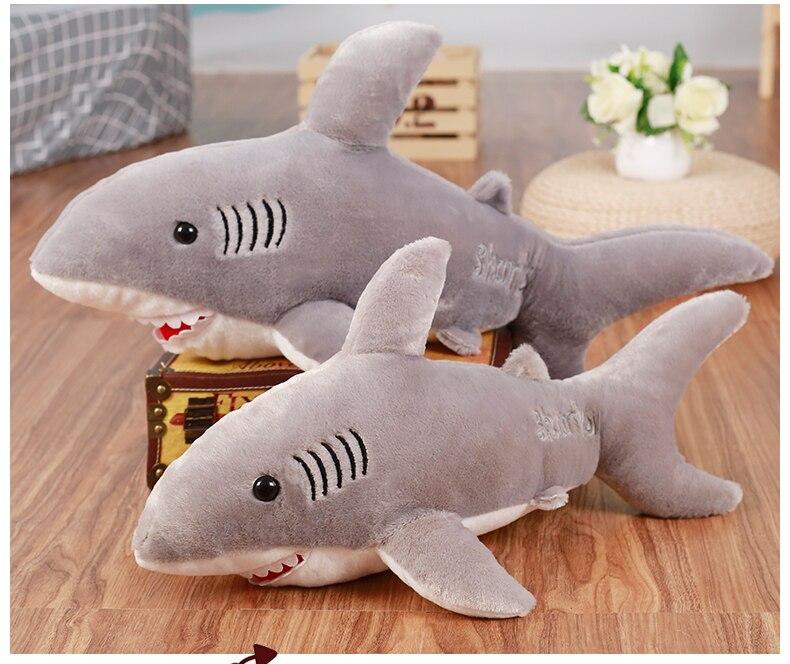 2017 70 cm 80 cm neue super weiches nettes horror shark plschtier hai kissen puppe mdchen kinder geburtstagsgeschenk in 2017 70 cm 80 cm neue super - Haikissen