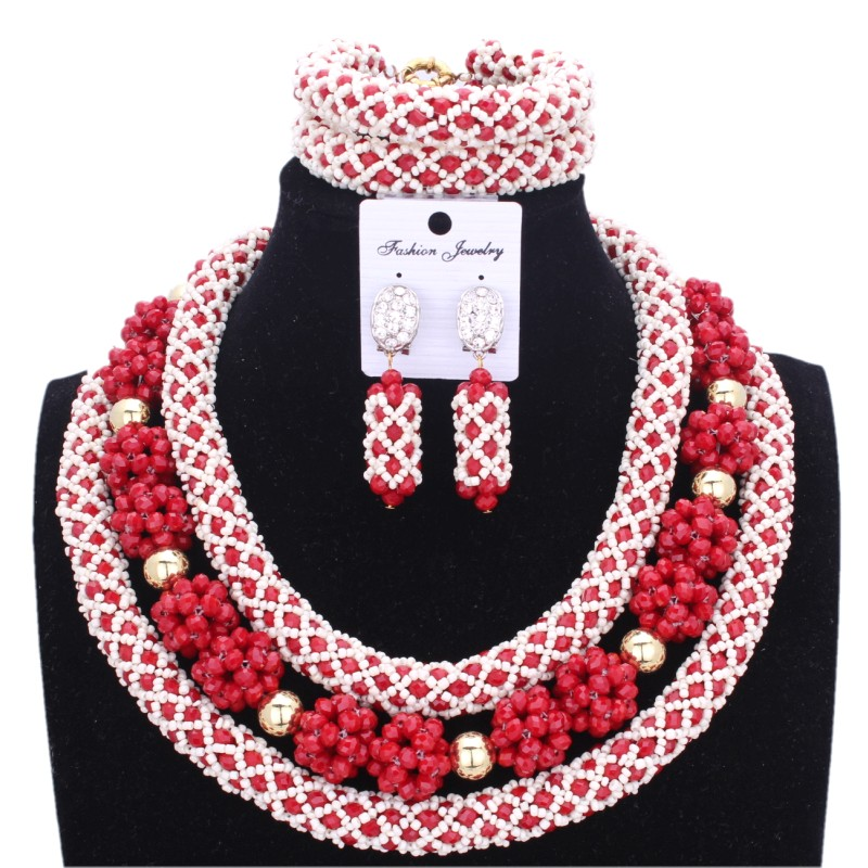 4UJewelry African Beads Jewelry Sets Orange Balls Gold Dubai Crystal Wedding jewelry Sets Free Shipping Indian Necklace Set - 3