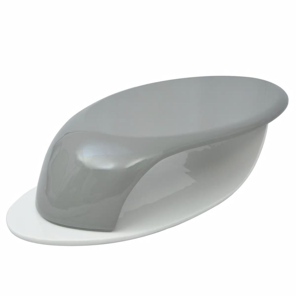 Vidaxl High Gloss Coffee Table White: VidaXL Coffee Table Fiberglass High Gloss Gray And White