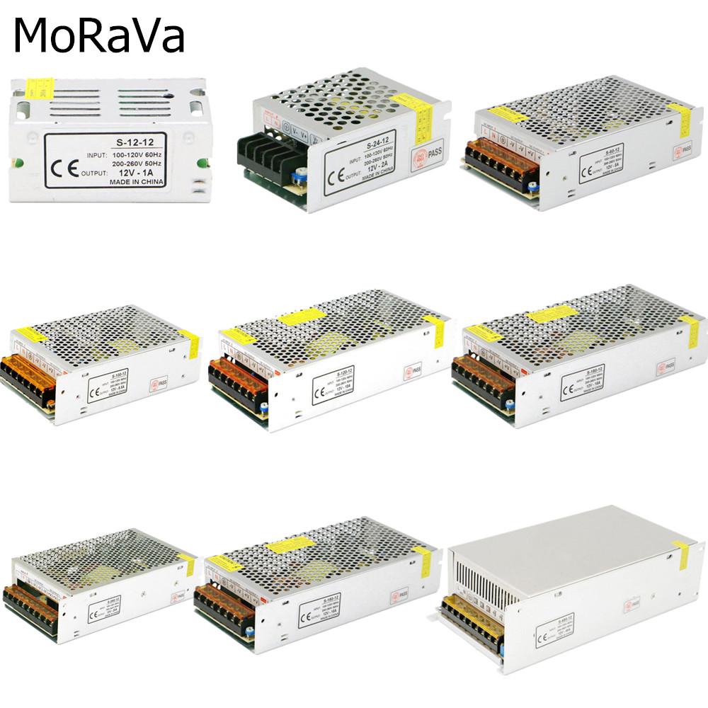 LED <font><b>Power</b></font> Adapter AC <font><b>110V</b></font> 220V To DC <font><b>12V</b></font> 2A 3A 5A 10A 15A 20A 30A 40A Switching <font><b>Power</b></font> <font><b>Supply</b></font> For LED Strip Lighting Transformer image