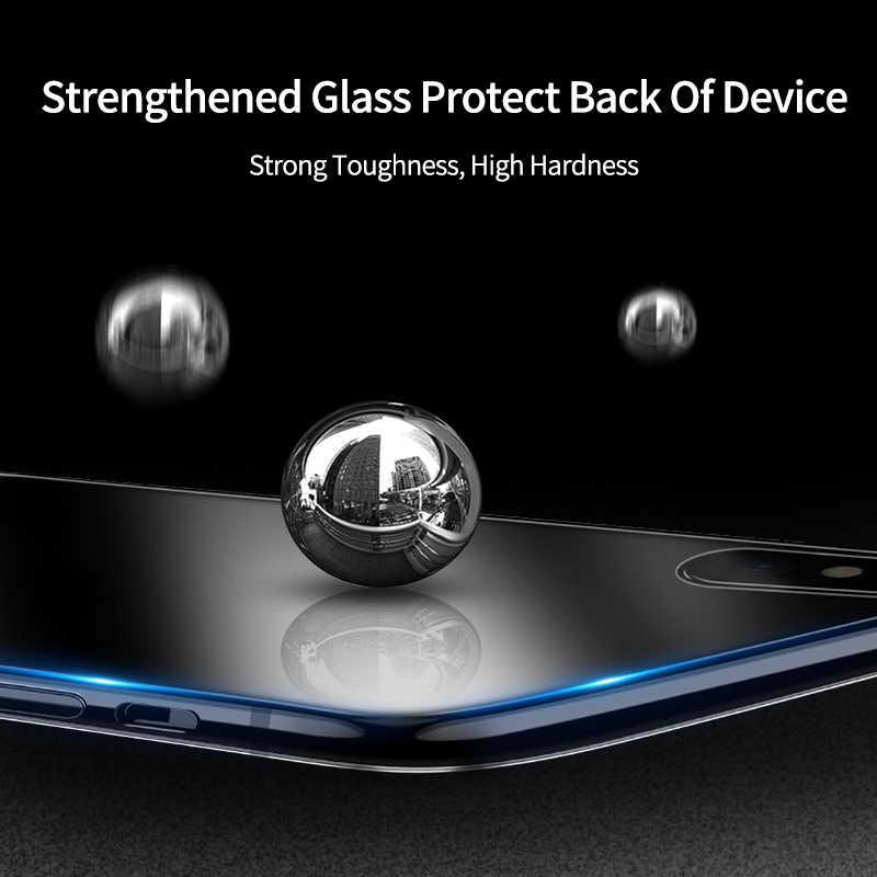 IHaitun Luxury สำหรับ iPhone 11 Pro Max XS MAX XR X Ultra Thin ฝาครอบกระจกด้านหลังสำหรับ iPhone XS MAX 10 7 8 Plus X Soft Edge