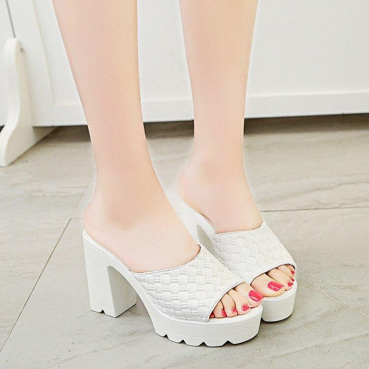 Arden Furtado 2018 summer high heels 7cm stilettos peep