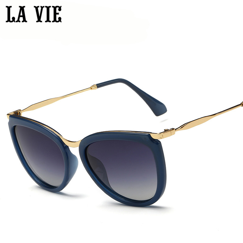 LA VIE HD Polaroid Cat eye Sunglasses Women anti-g...