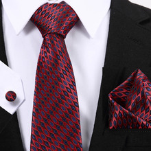 New Paisley men ties set Extra Long Size 145cm*7.5cm Necktie Wine Red Plaid 100% Silk Jacquard Woven Neck Tie Suit Wedding Party
