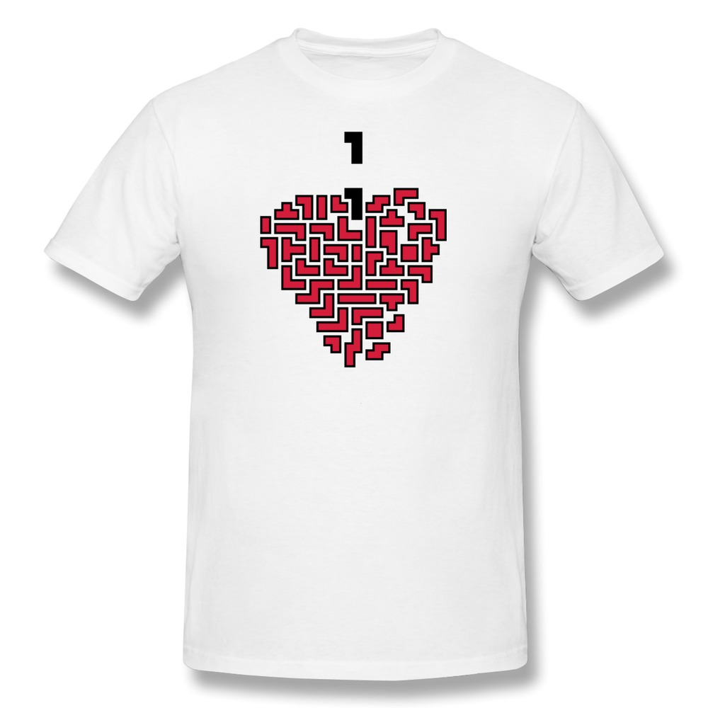 printing solid mans t shirt retro heart tetris funny logo men s t rh aliexpress com clothing brand with heart logo geordie shore clothing brand with love heart logo