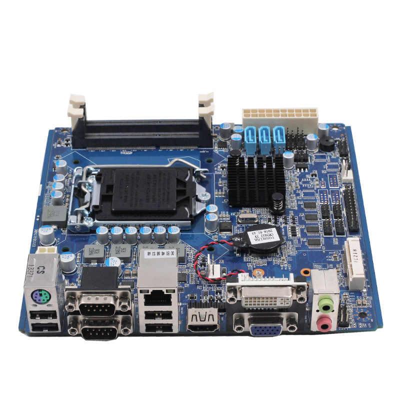 Quạt không cánh mini Bo mạch chủ máy tính i3/i5/i7 Bộ vi xử lý H61/B75 Chipset Mainboard LGA1155 Ổ cắm hỗ trợ VGA HD-MI