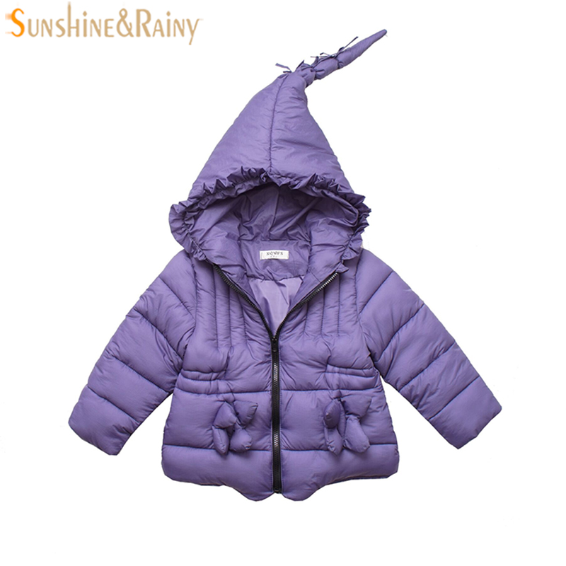 Girls Coat Hooded Witch Design Girls Parkas Winter Children Outerwear & Coats For Girls Cotton Warm Jackets Kids Clothes children winter coats jacket baby boys warm outerwear thickening outdoors kids snow proof coat parkas cotton padded clothes