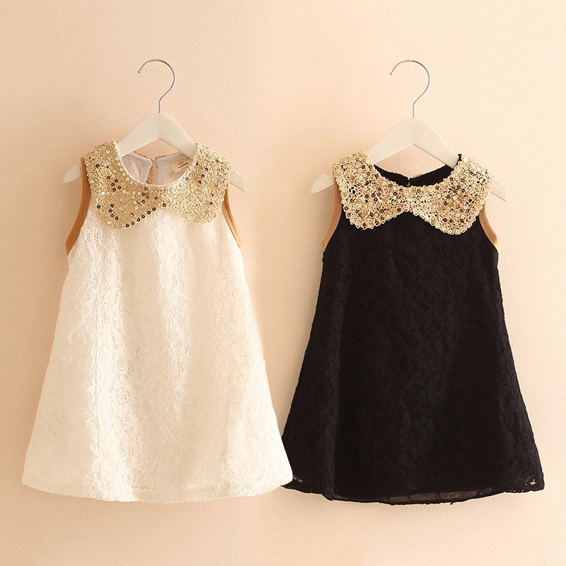 Children Girls Dress Summer Lace Sleeveless Holiday Party Wedding Princess A-line Dresses Girl Clothes Vestido Infantil ems dhl free shipping toddler little girl s 2017 princess ruffles layers sleeveless lace dress summer style suspender