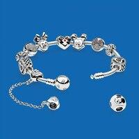 DERMSPE Новый S925 стерлингового серебра Diy браслет из бисера воспоминания детства, жизнь любовь 925 серебра женский браслет любовь костюм