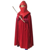 2018 Star Wars:Revenge of Sith Cosplay Costume Emperor Royal Guard Red Robe Cloak Outfit