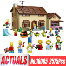 Compatible Lego THE Simpsons Series 71006 Models Building Toy The Simpsons House 2575pcs 16005 Building Blocks Toys & Hobbies(China)