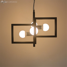 Post Modern New Design Geometry Chandelier Lighting Creative Living Room Loft Of The Quartet Iron