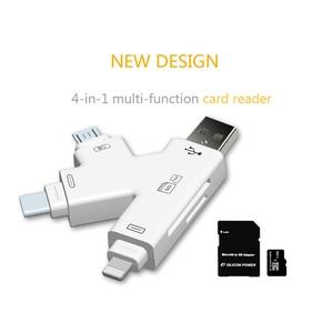 Image 5 - USB SD TF adaptador de lector de tarjetas para un rayo Android tipo C OTG inteligente Adaptador de Tarjeta de Memoria para iPhone Android portátil de escritorio