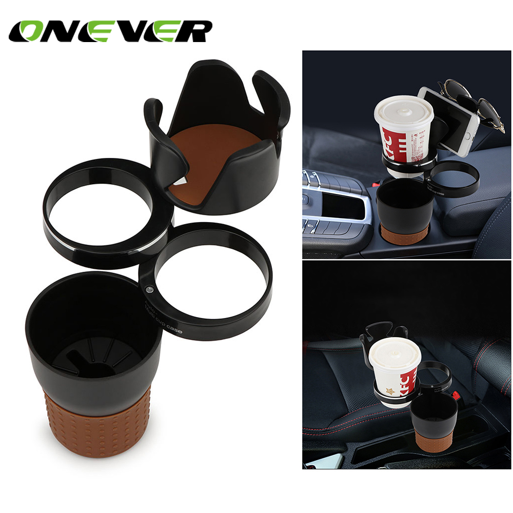 Onever Multifunction Car Drinking Bottle Holder Rotatable Water Cup Holder Sunglasses Phone Organizer Car Interior Accessories