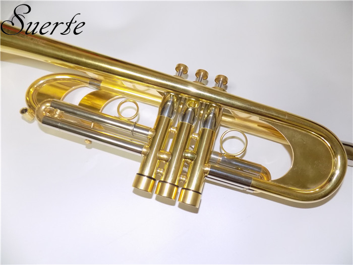 US $1403 53 5% OFF|Professional Heavy Trumpet Bb B Flat musical instruments  Passivation finish Brass Body with Mouthpiece and Carry case-in Trumpet