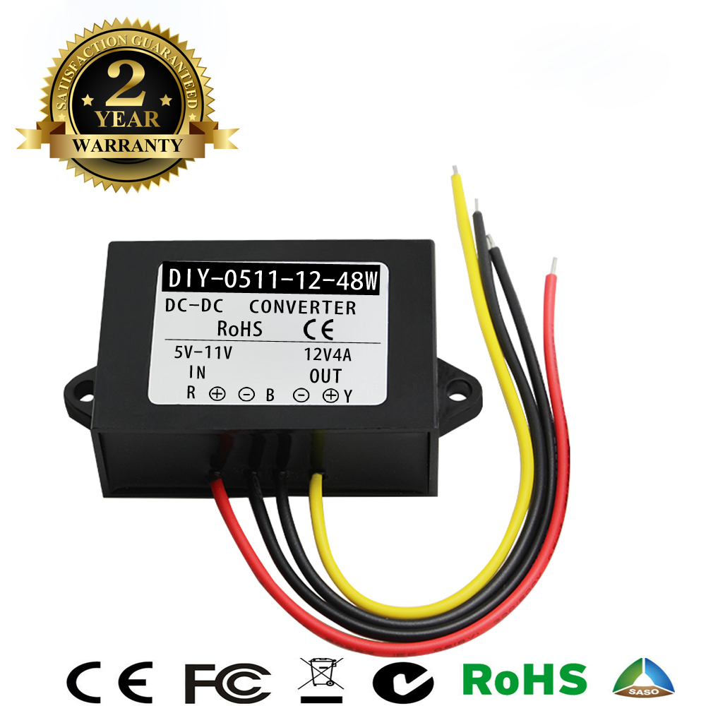 Converter DC 5V 6V 7V 8V 9V 10V 11V To 12V 3A 4A 48W DC DC Step Up Waterproof Boost Power Supply Module Car Power InverterConverter DC 5V 6V 7V 8V 9V 10V 11V To 12V 3A 4A 48W DC DC Step Up Waterproof Boost Power Supply Module Car Power Inverter
