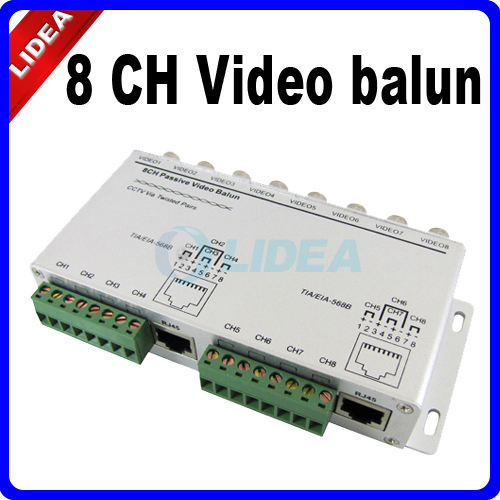 8 Channel BNC to UTP RJ45 Camera DVR CCTV Video Balun Transformer CN B-18