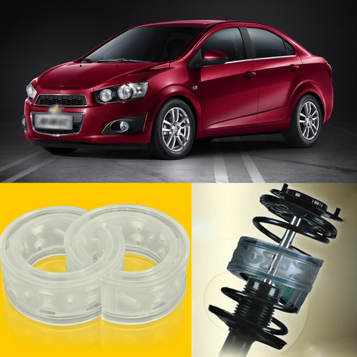 2pcs Power Front /Rear Shock Suspension Cushion Buffer Spring Bumper For Chevrolet Aveo  high quality front rear car auto shock absorber spring bumper power cushion buffer for honda cr v
