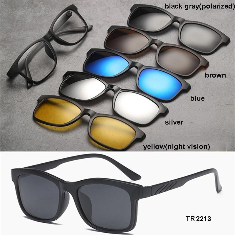 249a13a600 Dropwow TR90 Clip On Sunglasses men Magnetic clip Sunglasses women ...