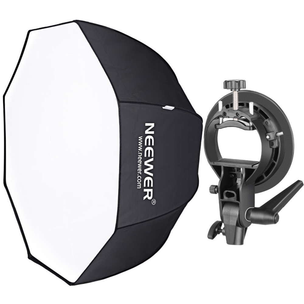 Neewer 32 Inches/80 Centimeters Octagonal Softbox With S-Type Bracket Holder (with Bowens Mount) And Carrying Bag For Studio