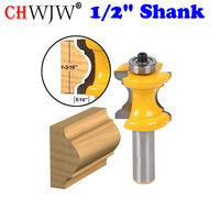 1PC 1 2 Shank Bullnose With Bead Column Face Molding Router Bit Line Knife Woodworking Cutter