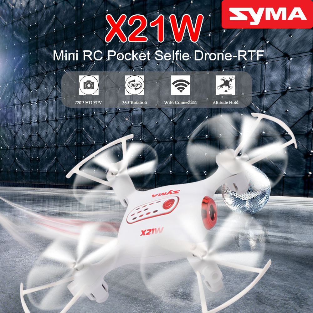 Original SYMA X21W RC Helicopter 2.4G 4CH Remote Control Quadcopter with 720P WiFi FPV Real Time Camera Aircraft Drone Best Gift yc folding mini rc drone fpv wifi 500w hd camera remote control kids toys quadcopter helicopter aircraft toy kid air plane gift