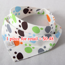 50pieces/lot Cotton Baby Bibs Colorful Scarf Newborn