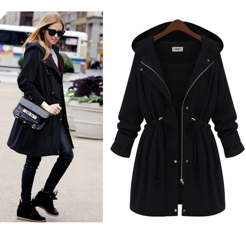 Popular Long Black Jacket Plus Size Women-Buy Cheap Long Black ...