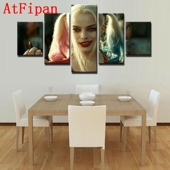 AtFipan Wall Art Modular Picture 5 Pieces Harry Quinn No Frame Modern Painting on Canvas Cuadros Wall Pictures For Living Room