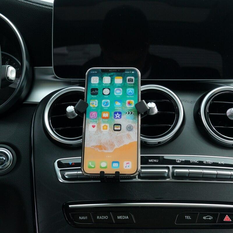 For Mercedes Benz C Class 2019 Car Accessories Rotational Smartphone Holder Air Vent Sucker Bracket Stand