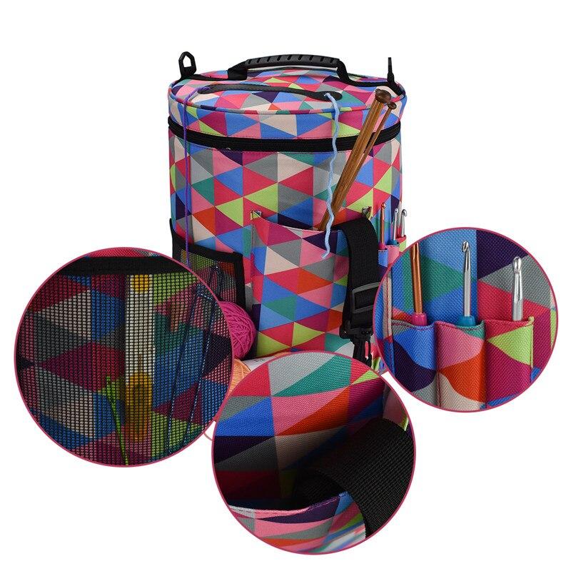 0b3c25d71818 KOKNIT Woolen Yarn Storage Bag Home Crochet Hooks Thread Yarn Storage Case  DIY Needlework Storage Bag Travel Organizer Tote Bag
