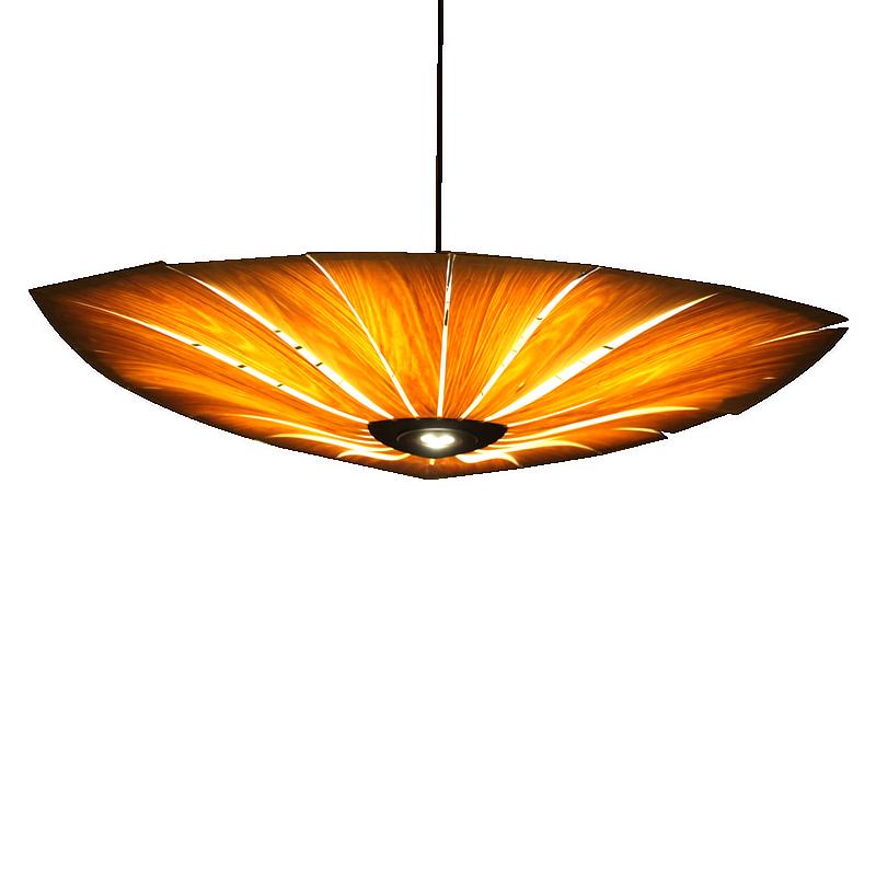 Us 69 36 49 Off Mooielight Collection Restaurant Wooden Pendant Lamp 40 50 60cm Sun Flower Shape Creative Wood Veneer Hanglamp Lighting Fixture In