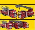 3 Стиль люкс Высокое Качество Отступить Красный Пожарная машина Металла крошечные Игрушки Автомобиля 1:32 Дети Подарки Для Детей Dinky Игрушки Модель подарок