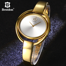 Bestdon Hot Elegant Bracelet Luxury Band Ladies Wristwatches Simple Design Women Quartz Watch Gold Relogio Feminino With Gift